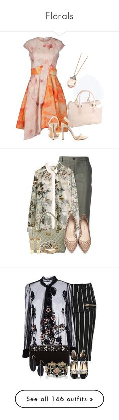 """""""Florals"""" by lechara ❤ liked on Polyvore featuring Furla, Christian Dior, BCBGMAXAZRIA, Astley Clarke, Société Anonyme, H&M, Love Moschino, Loeffler Randall, Palm Beach Jewelry and Roberto Cavalli"""