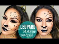 Sexy Leopard/Cheetah Halloween Makeup Tutorial - YouTube