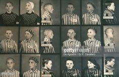 Photos of Jewish children in the Auschwitz concentration camp museum (UNESCO World Heritage List, 1979), Poland.