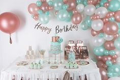 Deco Rose, First Communion, 30th Birthday, Ballons, Mint, Confirmation, Images, Nail Stuff, Pretty
