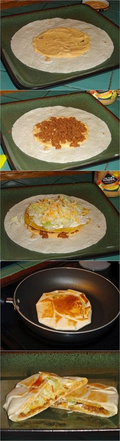 6/12/14 Homemake Crunchwrap Supremes Recipe so easy - my fav Taco Bell item