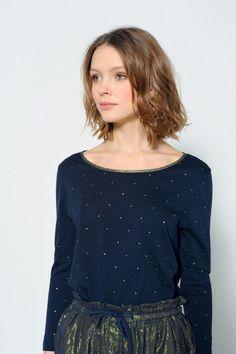Tee shirt kimiko marine - t-shirt - des petits hauts 1