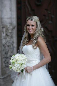 White Bride makeup Down Long Medium Straight Wavy Wedding Hair & Beauty Photos & Pictures - WeddingWire.com