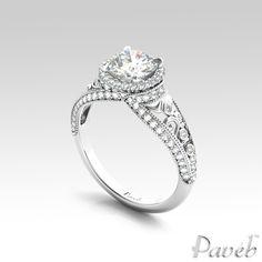 amazingly lustrous  http://paveb.com/round-halo-scrollwork-bright-cut-diamond-engagement-ring.html#970=127