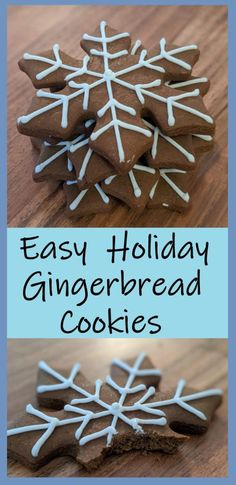 Try these easy holiday gingerbread cookies, they'll make your house smell amazing and your belly super happy!  #butfirstcookies #gingerbread #cookies #holidays