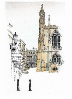 Pump Room, Bath | Flickr - Photo Sharing! Pen And Watercolor, Watercolor Landscape, Landscape Paintings, Sketchbook Inspiration, Art Sketchbook, Painting Inspiration, Architecture Drawing Sketchbooks, Watercolor Architecture, Architecture Sketches
