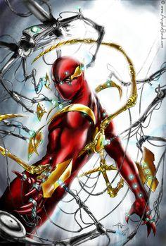 #Spiderman #Fan #Art. (Iron Spidey: Dell'Otto+Bondi) By: Angelabondi. (THE * 5 * STÅR * ÅWARD * OF: * AW YEAH, IT'S MAJOR ÅWESOMENESS!!!™)[THANK Ü 4 PINNING<·><]<©>