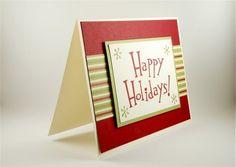 Happy Holidays Handmade Christmas Greeting Card