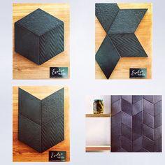 Rhombus #black #4colourways #tile #tilelove #hexagon #evolvetileco