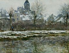 Claude Monet — The Church at Vetheuil under Snow, 1879