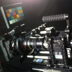 RED EPIC-X with Optimo zoom lens in the camera test room. Now available from Shoot Blue.