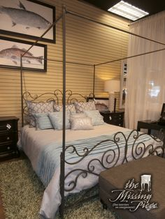 price: $895.00 item #: 129236 ashley canopy bed in a bisque finish