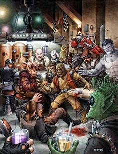 West End Games cover for Wretched Hive of Scum and Villainy by Chris Trevas