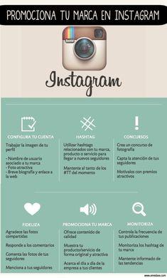 Promociona tu marca en Instagram #infografia #infographic #marketing #socialmedia