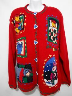 Winnie the Pooh, Eeyore and Piglet fans will be cozy in this Ugly Christmas Sweater all year round.