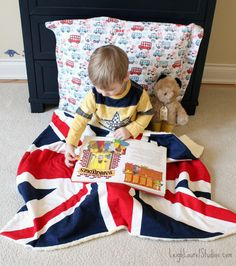Learn how to make a soft union jack blankie with this easy tutorial