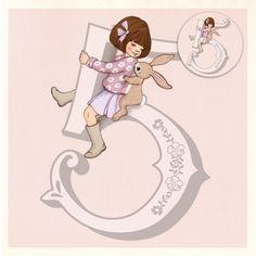Wenskaart met button Belle & Boo 5 jaar Belle