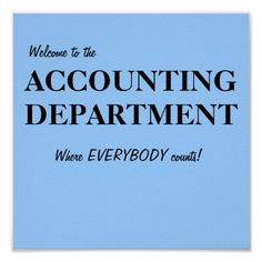 Accounting. Where everybody counts.