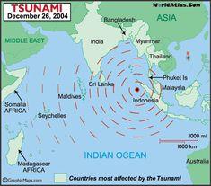 ⌛️ 26 décembre 2004 : un séisme, au large de Sumatra, déclenche un tsunami en Asie du Sud-Est. Il entraînera la mort de 220 000 personnes.