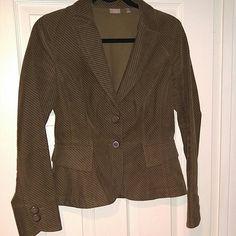 Halogen jacket/blazer Brown courderoy Halogen jacket/blazer. Two decorative front pockets. 100% cotton. Worn once or twice, excellent condition. Halogen Jackets & Coats Blazers