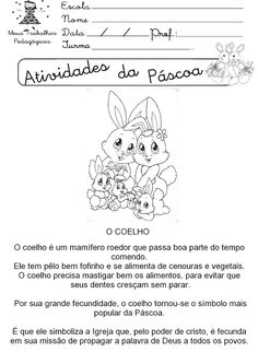 Atividades de páscoa para educação infantil passo a passo - Artesanato Passo a Passo! Diagram, Words, Easter, History Of Easter, Valentines Day Activities, Infancy, Manualidades, Places, Easter Activities