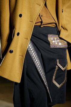 See detail photos for Dries Van Noten Fall 2015 Menswear collection.