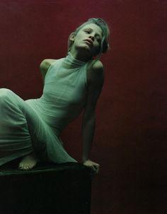 """Waking Dream"". Tanga Moreau by Mario Sorrenti for Harper's Bazaar February 1997"