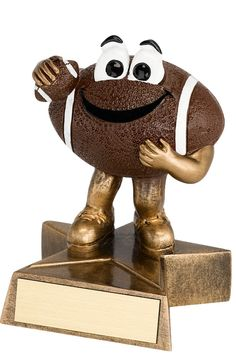 4 in. Resin Happy Football Trophy - Football Trophies - Football - Sports