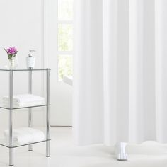 Stylish and modern hook-free shower curtain. Magnet weights at corners. Size: Available in white or chocolate color. Shower Curtain Hooks, Curtain Rods, Hookless Shower Curtain, Curtains, Bathroom, Modern, Design, Dorm, Toronto