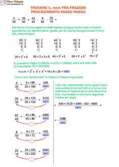 09. Come trovare il mcm fra frazioni passo passo Algebra, Math Tutor, Jordyn Jones, School Hacks, Fun Math, Album Covers, Professor, Homeschool, Classroom