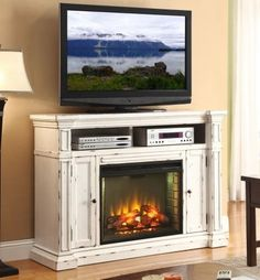 "New Castle 58"" TV Stand with Electric Fireplace"