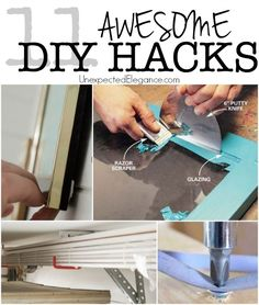 11 Awesome DIY Hacks...Here are 11 ways to make some of those annoying and/or tedious tasks a little easier with these DIY hacks!!