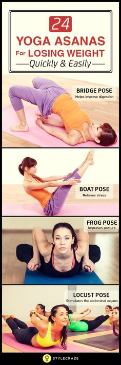 24 yoga asanas for losing weight quickly and easily