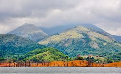 BANASURA SAGAR Dam Reservoir and a view of the Hotel situated in one of the hills
