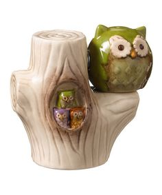 Love this Green Owl Magnetic Salt & Pepper Shakers on #zulily! #zulilyfinds