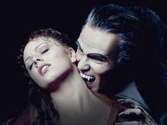 Tanz der Vampire. Thomas Borchert as Count von Krolock and Jessica Kessler as Sarah.
