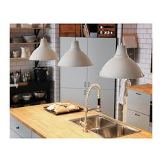 FOTO Pendant lamp IKEA Gives a directed light. Good for lighting dining tables or a bar area.