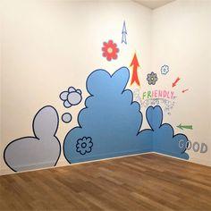 De 'girly' muurschilderingen van Lily van der Stokker in het Stedelijk Museum Fluxus, Action Painting, Op Art, Uni, Concept Art, Lily, Museum, Home Decor, Pintura