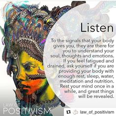 Yoga Quotes : Your body channels messages to you everyday, telling you what it n. Yoga Quotes : Your body channels messages to you everyday, telling you what it needs and what your Spiritual Growth, Spiritual Quotes, Spiritual Awareness, Citations Yoga, Positive Energie, A Course In Miracles, E Mc2, Think, Yoga Quotes