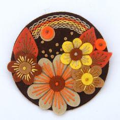 embroidered felt brooch at folksy.com