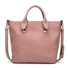 Women PU Leather Handbag Elegant Tote Bag Crossbody Bag