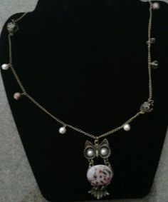 Antique Owl Pendant Necklace by GlamGalsJewelryBox on Etsy