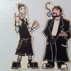 If anyone doubts my love for Mahfood, see these Jay & Silent Bob refrigerator magnets I've had since like 1997.