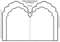 """Double Scalloped Topped Card Template CU4CU on Craftsuprint designed by Mary Jane Harris - This template has a double shape for added layering. Template is in .png format and is CU4CU. Template may NOT be sold """"as is"""". - Now available for download!"""