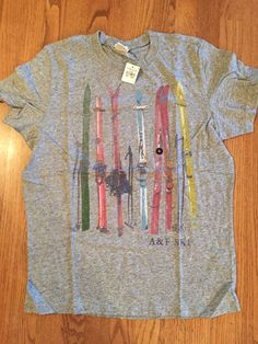 New Mens Abercrombie & Fitch Gray T-Shirt Size XL NWT