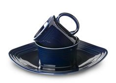 When I got married, we got Fiestaware in Colbalt blue for wedding gifts.  I'd love to add to our collection with these square plates | Fiesta 3-Piece Square Place Setting, Cobalt