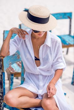 Sheinstreet Spring and Summer SheInStreet Chiffon Shirt Collar Button Front Bandage Maxi Dress Cover-Ups Bikini Push Up, Song Of Style, Maxi Shirt Dress, Chiffon Shirt, Estilo Hampton, Gary Pepper Girl, Beach Skirt, Swimwear Cover Ups, Summer Maxi