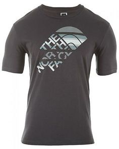 North Face Short Sleev Ombre Stripe Tee  Mens   CY80-044 Graphite Grey SZ-XL