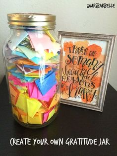 Create your own gratitude jar @Mrs. BarBelle