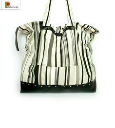 Tasche «Schwarz-Weiß Streifen» von Patatuyki auf DaWanda.com